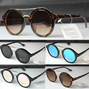 Round Crossbar Sunglasses Womens Mens Fashion UV400