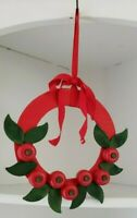 Swedish Wooden Apple Wreath Red Green Christmas Decoration Hanging Tree Handmade