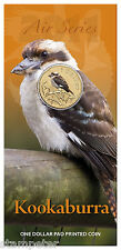 2011 Air Series - Kookaburra, One Dollar $1 Pad Printed Coin  RAM