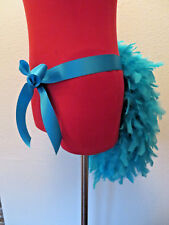 Nola Party Bustle Skirt Showgirl Burlesque Ribbon Tie Feather Tutu Costume
