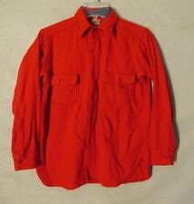 V7024 Monterey Sportswear Size 15 Red Button Up Long Sleeve Shirt 2 Pockets