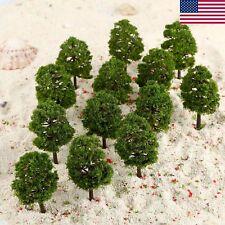 US STOCK 20pcs Model Trees Layout Train Railway Landscape HO OO Scale 1:100 90mm