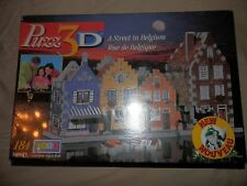 Puzz 3D A Street In Belgium 184 Pieces Unopened NIB