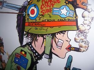 Tank Girl 20x20in Oil Painting. Not a print/giclee,Booga, Boat girl