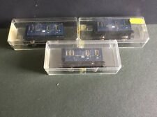3 x Egger  Bahn Dark   Blue. Passanger/ Brake. Van  Coach es  Boxed Last Set