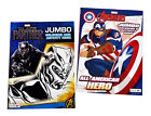 Black Panther  The Avengers Kids Coloring Book and Activity Books Set of 2 NEW