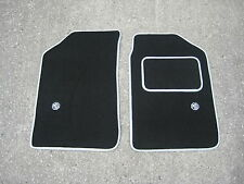 Rover MGF/MGTF Car Mats in Black with Silver trim + MG Logos in Silver