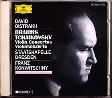 David OISTRAKH: BRAHMS TCHAIKOVSKY Violin Concerto Franz KONWITSCHNY CD Dresden