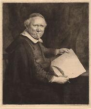 Rembrandt Etching Reproduction: Lieven van Willemsz Coppenol: Fine Art Print