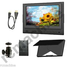 """Lilliput 7"""" 5D-II/O/P HDMI Monitor PEAKING Canon LP-E6 adapter 5D Mark II+gifts"""