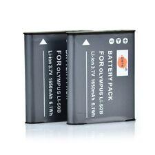 DSET 2x LI-50B 50B Battery for Olympus stylus 9010 SP-800UZ Tough TG-870 D-Li92