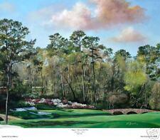 "Augusta National Golf Club-  Amen 12 ""Golden Bell ""  Giclee on Canvas 18X24 L.Ed"