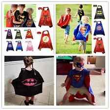 Superman Kids Cape!!!! Mask Superhero Boy Girl birthday Party Costume gift ))))