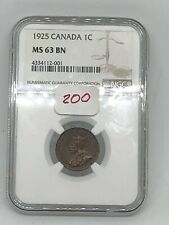 1925 CANADA 🇨🇦 CANADIAN SMALL CENT COIN NGC MS63 - RARE KEY 🔑 DATE!