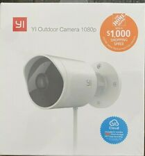 YI - Outdoor Security Camera 1080p Weatherproof - Night Vision White New Sealed