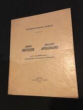 Gason Pierre-Marie - Nietzsche - Apollinaire - Verviers 1965 - 1/60 - R2