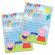 Official PEPPA PIG INVITATION SHEETS 20 PACK George Birthday Party Invites Kids