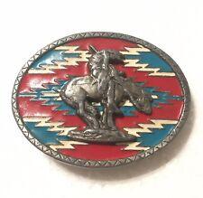 VTG Native American Indian Horse Belt Buckle Masterpiece Collection BA491