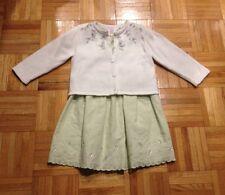 Gymboree girls dress, cardigan, pants EUC size 3T