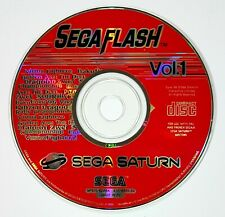 Sega Saturn Demo Disc Flash Vol. 1 Pal Golden Axe/Tempered Dragoon / Baku Baku