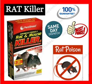 Rat Killer Rodent Poison Bait Pest Control RAT Mouse Killer Indoor & Outdoor No1
