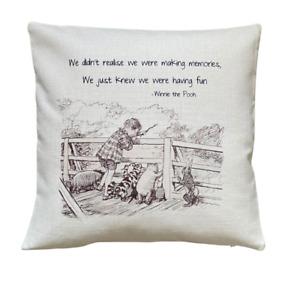 *SALE* making memories - 40cm Ivory cushion cover Winnie The Pooh Nursery Gift