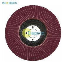 "20 x Flap Sanding Discs 115mm 40 Grit Aluminium Oxide 4.5"" Angle Grinder"