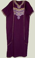 WOMENS MEDIUM / LGE VISCOSE PURPLE CAFTAN GOLD TRIM CASUAL KAFTAN SUN DRESS # A