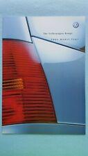 Volkswagen Lupo Golf Polo Beetle Bora Passat car brochure catalogue 2002 MINT VW