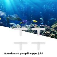 10Pcs 2-Way Plastic Air Line Tubing Joints Connectors Aquarium Fish TankKRFS