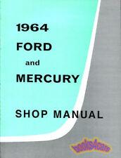 SHOP MANUAL 1964 FORD MERCURY SERVICE REPAIR BOOK FACTORY WORKSHOP RESTORATION