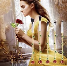 5Pcs Tool Brush Set Beauty and the Beast Rose Makeup Foundation Brushes