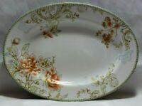 222 Fifth Zoe White Floral Porcelain Large Oval Platter Serving Dish New
