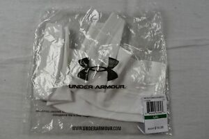 Under Armour Arm Sleeves Men's White Poly NEW L/XL