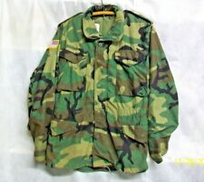 *SPEC* U.S. ARMY 1983 COLD WEATHER FIELD WOODLAND CAMOUFLAGE LINED COAT - XS/REG