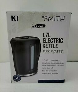 Electric Tea Kettle Kitchen Smith by Bella, 7 Cup (1.7L) - Black