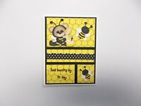 """Card Kit...""""Just Buzzin' By"""" Total of  4 cards and envelopes DIY Kit"""