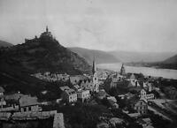 GERMANY Braubach & Marksburg on Rhine River - 1920s Photogravure Print