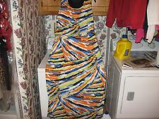 WOMENS DRESS SIZE 1X 1XLARGE 1XL LONG MAXI DRESS BRILLIANT COLORS NEW WITH TAGS