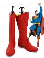 Superman Shoes Clark Kent Cosplay Red Boots Custom-made High-Q Hot Comic Hero