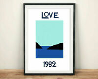 LOVE 1982 POSTER Homage to Yves Saint Laurent 80s Anniversary Year - No Frame