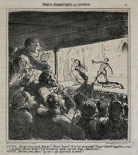 Honore Daumier France 1808-1879 Lithograph Croquis Dramatiques No 2.
