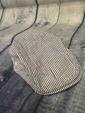 Boys Stripe Blue & White Easter Cap/Hat Sz 12-24 Mos
