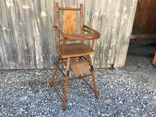 Ancienne petite chaise pour bébé jouet enfant poupée vintage déco chalet Savoie