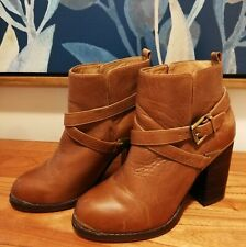 Nude Leather Boots Size 37