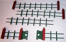Vintage WOODEN Child's Toy Play Set RED & GREEN FENCE WITH SWING GATE Nice!