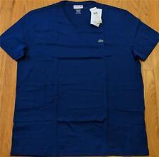 Mens Authentic Lacoste Pima Cotton V-Neck T-Shirt Ocean 8 (3XL) $49