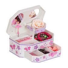 Girls Musical Ballerina Jewelry Box Butterfly Flower Design Swan Lake Song Gift