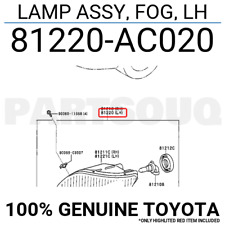 81220AC020 Genuine Toyota LAMP ASSY, FOG, LH 81220-AC020