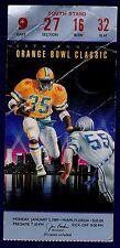 1989 Orange Bowl Ticket Miami 23 v Nebraska 3 Creases 16482
